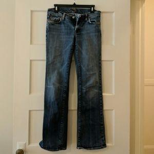7 for All Mankind Dark Wash Wide Leg Jeans